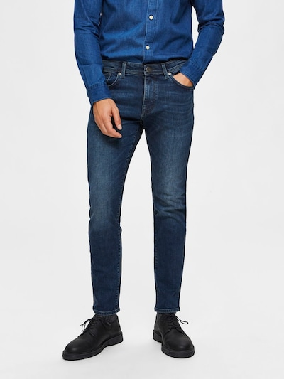 kék SELECTED HOMME Farmer, Modell nézet