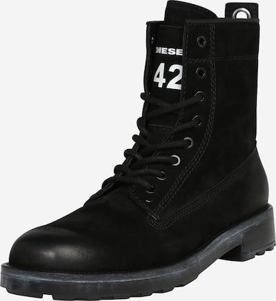 DIESEL Stiefel 'THROUPER' in schwarz / weiß, Produktansicht