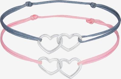ELLI Armband Herz in blau / grau / rosa, Produktansicht
