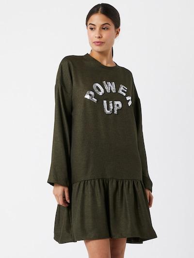 Trendyol Kleid in khaki / silber, Modelansicht