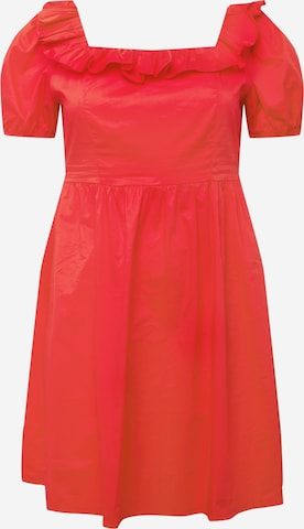GLAMOROUS CURVE Kleid in Rot