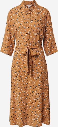 OBJECT Kleid 'Nelle' in cognac / anthrazit / apricot / weiß, Produktansicht