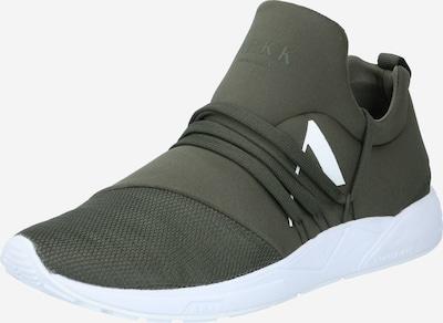 ARKK Copenhagen Sneaker 'Raven' in khaki / weiß, Produktansicht