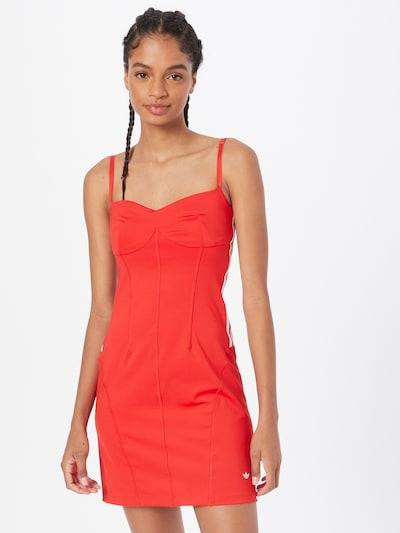 ADIDAS ORIGINALS Kleid in rot / weiß, Modelansicht