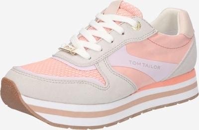 TOM TAILOR Sneaker in hellgrau / lachs, Produktansicht