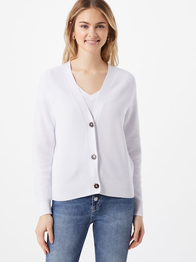 Geacă tricotată Calvin Klein pe alb, Vizualizare model