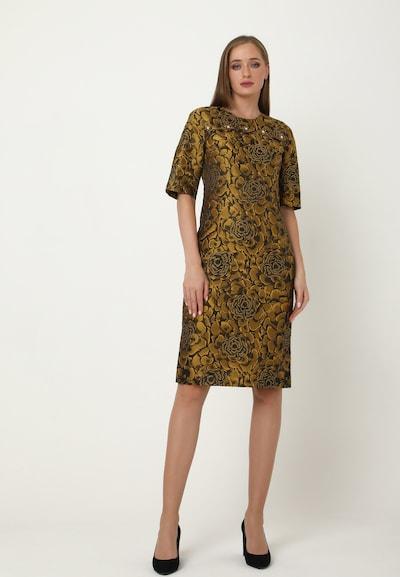Madam-T Kleid 'Noella' in senf / schwarz, Modelansicht