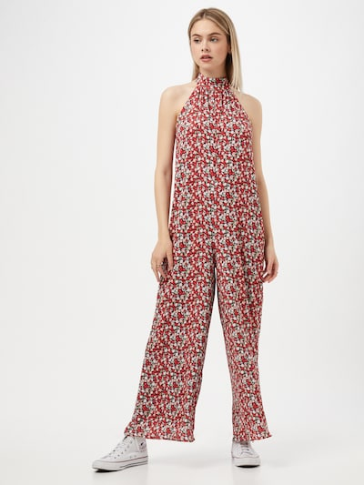 Trendyol Jumpsuit in mint / rosa / rot / bordeaux / weiß, Modelansicht
