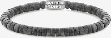 Rebel & Rose Armband in Grau