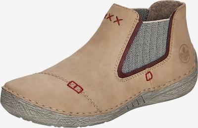 RIEKER Chelsea boty - béžová / červená, Produkt