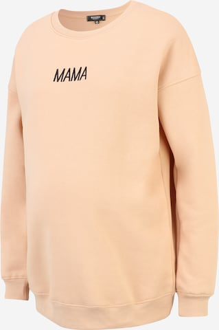 Missguided Maternity Sweatshirt in Beige