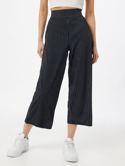 JACQUELINE de YONG Trousers in Dark blue / White: Frontal view