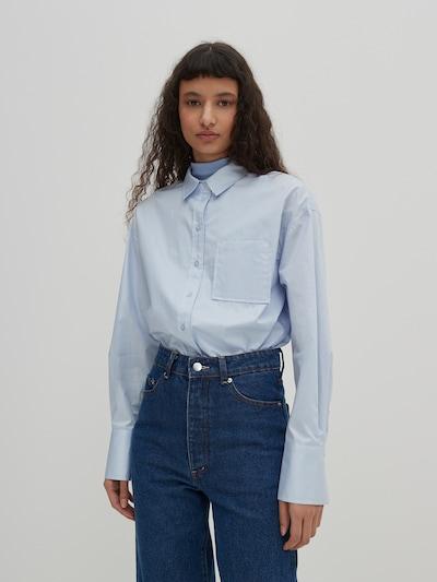 EDITED Блуза 'Gianna' в синьо, Преглед на модела
