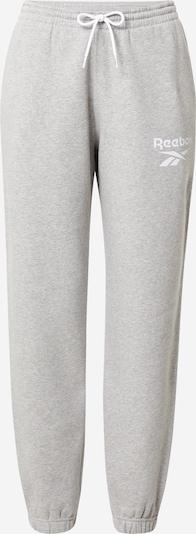 Reebok Sport Hose in graumeliert / weiß, Produktansicht