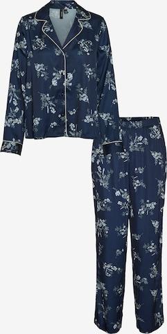 VERO MODA Pyjama 'Sille' in Blau