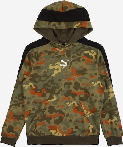 PUMA Sportief sweatshirt in de kleur Kaki / Donkeroranje / Zwart, Productweergave