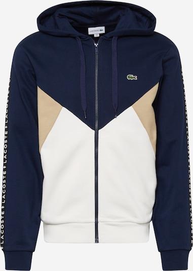 LACOSTE Sweatshirt in beige / navy / weiß, Produktansicht