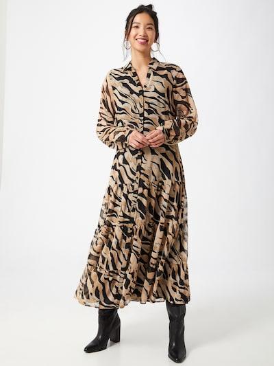 COMMA Kleid in beige / schwarz, Modelansicht