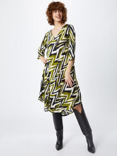 Masai Kleid 'Nora' in grün / schwarz / weiß, Modelansicht