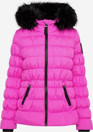 Soccx Winterjacke mit Windbreaker-Bündchen und Fake Fur in pink, Produktansicht