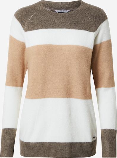 ZABAIONE Pullover 'Betty' in brokat / hellbraun / weiß, Produktansicht