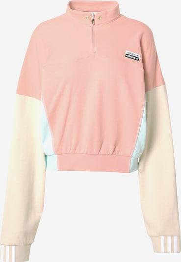 ADIDAS ORIGINALS Sweatshirt in creme / hellblau / altrosa, Produktansicht