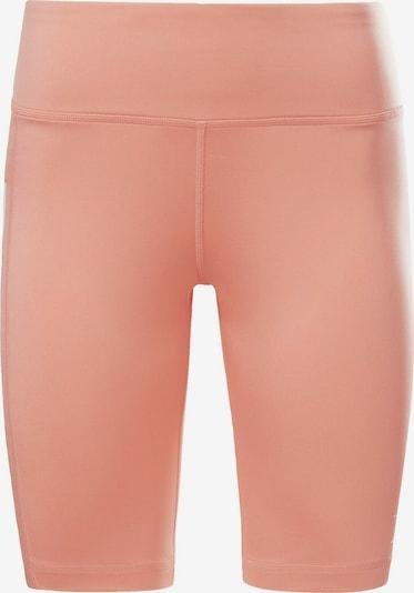 REEBOK Pantalon de sport en melon / blanc, Vue avec produit