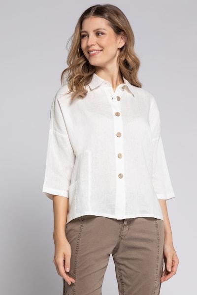 Gina Laura Bluse in weiß, Modelansicht