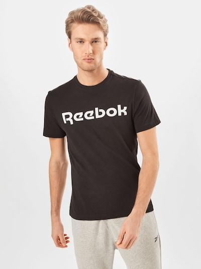 Reebok Sport Functioneel shirt in de kleur Zwart / Wit: Vooraanzicht
