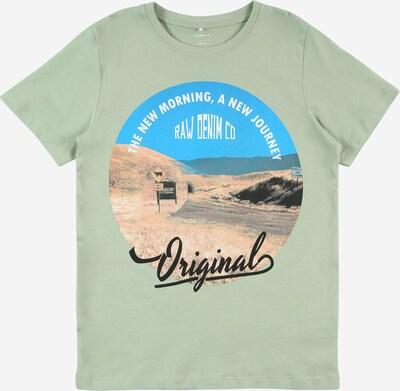 Tricou 'KALMARO' NAME IT pe albastru / maro / verde deschis / negru / alb, Vizualizare produs
