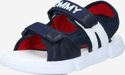 TOMMY HILFIGER Offene Schuhe 'VELCRO' in blau / weiß, Produktansicht