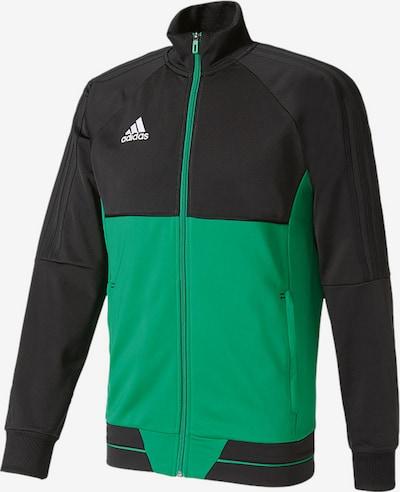 ADIDAS PERFORMANCE Sportsweatjacke 'Tiro 17' in grün / schwarz / weiß, Produktansicht