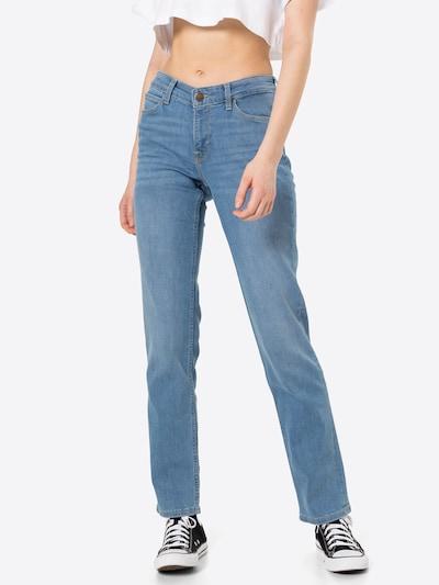 Lee Jeans 'Marion Straight' in de kleur Blauw denim, Modelweergave