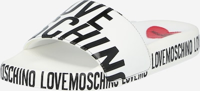 Love Moschino Pantolette in schwarz / weiß, Produktansicht