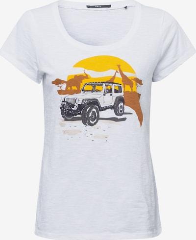 zero T-Shirt in gelb / weiß, Produktansicht