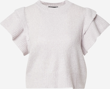 PIECES Sweater 'FRILL' in Purple