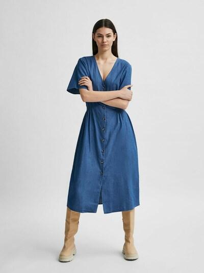 Rochie tip bluză Selected Femme Petite pe albastru cer, Vizualizare model