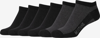 MUSTANG Sneakersocken 'Charlotte' in dunkelgrau / schwarz, Produktansicht