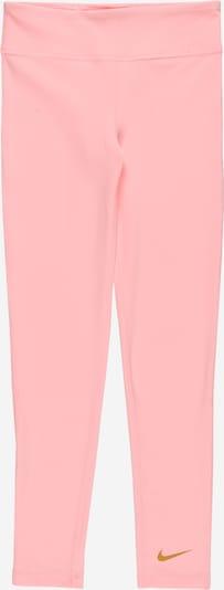 NIKE Pantalon de sport en moutarde / rose, Vue avec produit