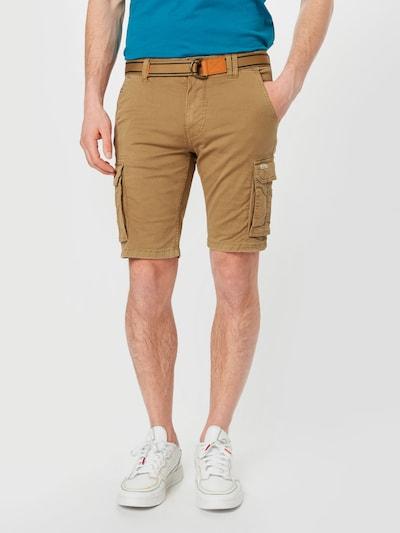 BLEND Pantalon cargo en noisette, Vue avec modèle