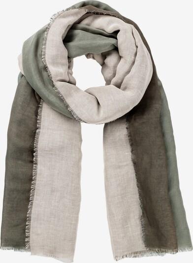 HALLHUBER Schal in beige / khaki / oliv, Produktansicht