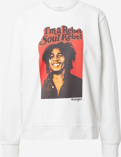 WRANGLER Sweatshirt i ljusbeige / röd / svart / vit, Produktvy
