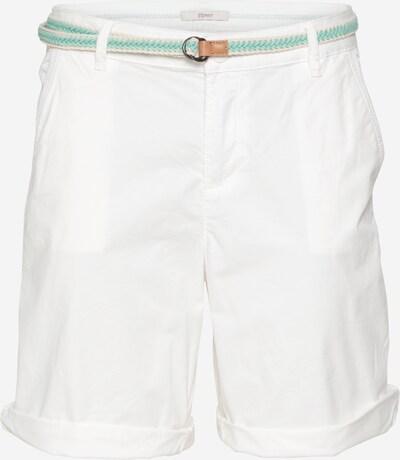 Pantaloni ESPRIT pe alb, Vizualizare produs