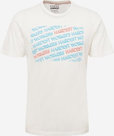 BLEND T-Shirt en bleu clair / rouge / blanc cassé, Vue avec produit
