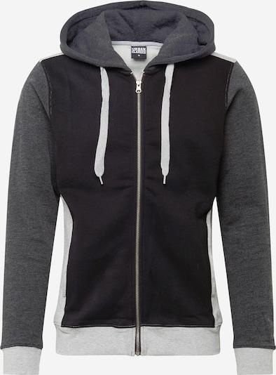 Urban Classics Veste de survêtement en gris / gris foncé / noir, Vue avec produit
