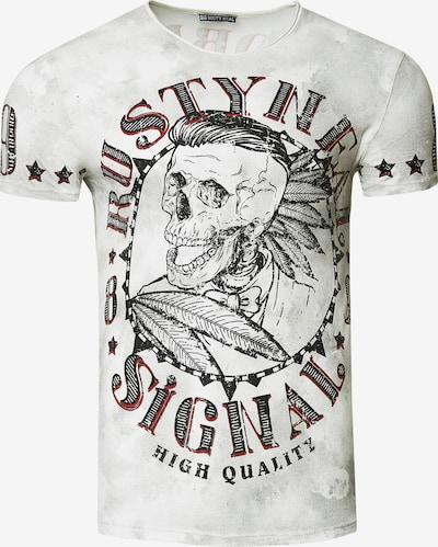 Rusty Neal T-Shirt Totenkopf in weiß, Produktansicht