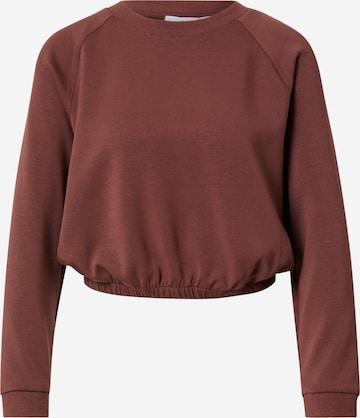 Sweat-shirt 'Hailey' ABOUT YOU en marron