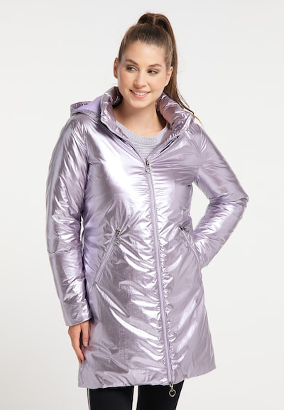 MYMO Winter Coat in Lilac, View model