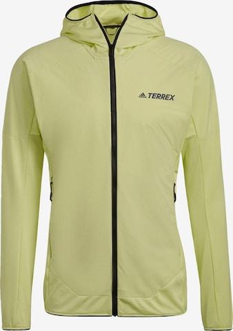adidas Terrex Funktionele fleece-jas 'Skyclimb' in Groen