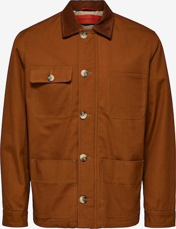 Veste mi-saison SELECTED HOMME en marron